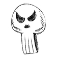 Sly skull isolated on white vector image vector image