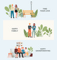 stages building family - isolated set of vector image