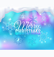 steamy glass christmas background vector image