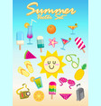 summer set cartoon vector image