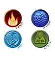 symbols four elements of nature vector image vector image
