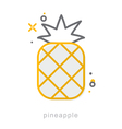 Thin line icons Pineapple vector image vector image