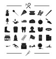 tools dentist and other web icon in black style vector image vector image