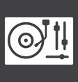turntable glyph icon music and instrument vector image vector image