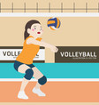 volleyball athletic sport cartoon vector image vector image