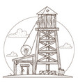 water tower vintage structures vector image