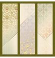 Vintage Banners Retro Pattern Design Set vector image