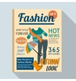 Fashion magazine with casual clothing vector image