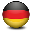 A ball with the flag of Germany vector image