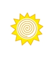 Abstract sun logo vector image vector image