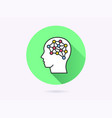 artificial intelligence icon for graphic and web vector image