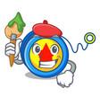 artist yoyo character cartoon style vector image vector image