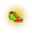 Baseball boot icon comics style vector image vector image