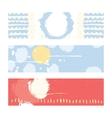 Bright abstract horizontal banners hand drawn vector image vector image