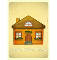 Cartoon Houses Postcard vector image vector image