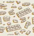 chocolate bar sketch hand-drawn design milk vector image