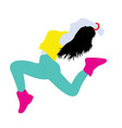 Color of Break Dance Silhouette vector image vector image