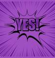 comic trendy purple template vector image
