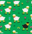 coronavirus social distancing sheep wearing vector image vector image