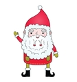 Cute cartoon Santa Claus with pigtail vector image