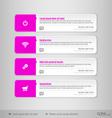 Design layout modern symbols tabs vector image vector image