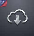 Download from cloud icon symbol 3D style Trendy vector image