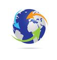 earth planet globe vector image vector image