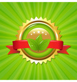 Eco Label With Sunburst vector image vector image