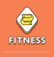 fitness colour icon with measuring tape vector image vector image