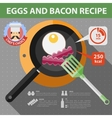 flat recipe infographic vector image