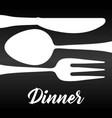 fork spoon knife cutlery symbol vector image vector image