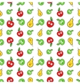 Fruits Seamless Background with Funny Pears vector image vector image