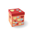 gift box isometric flat icon 3d colorful vector image vector image