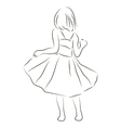 Girl in a dress vector image vector image