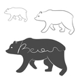 Grizzly Bear silhouette shape logo isolated vector image vector image