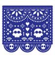 halloween dead design with skulls vector image vector image