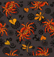 halloween seamless pattern with red gigantic vector image