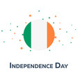 independence day of ireland patriotic banner vector image