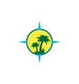 island concept compass logo icon vector image vector image