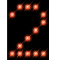 led digits 2 vector image vector image