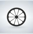 lemon black icon isolated on vector image