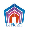 library building vector image