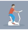 Man Doing Dycling Exercise vector image