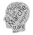 Marche Country Homes Your Dream Home in Italy text vector image vector image