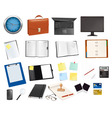 mega collection of office supplies vector image vector image