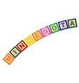 minnesota wooden block letters vector image vector image