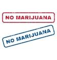 No Marijuana Rubber Stamps vector image vector image