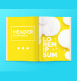 realistic layout magazine open brochure vector image