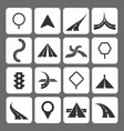 road movement signs and traffic navigation icons vector image vector image