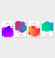 set 4 abstract modern graphic liquid elements vector image vector image